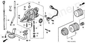 E-13 OIL PUMP/OIL STRAINER (SOHC)