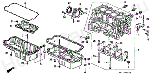 E-14 CYLINDER BLOCK/OIL PAN (SOHC)
