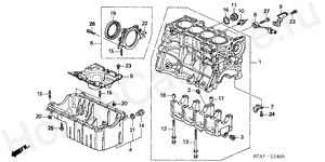 E-14 CYLINDER BLOCK/OIL PAN (1.7L)