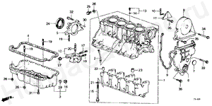E-14 CYLINDER BLOCK/OIL PAN