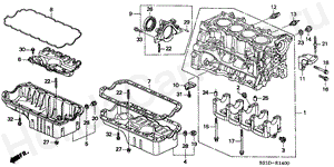 E-14 CYLINDER BLOCK/OIL PAN (1)