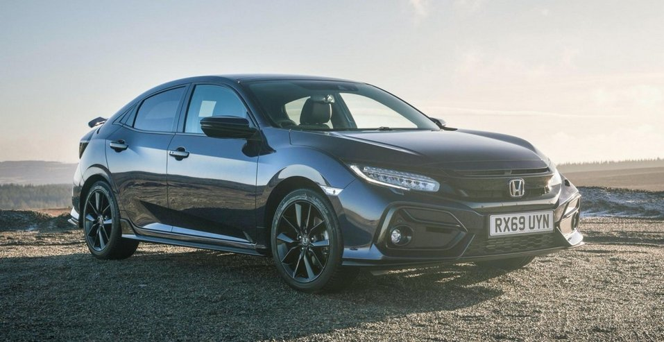 Петентное фото серийной версии Honda Civic Hatchback 2017